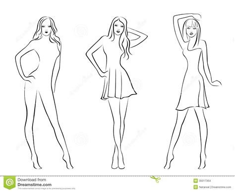 blank model sketch template blank model for fashion design coloring pages