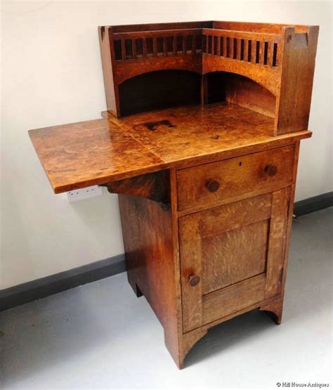 unusual arts crafts corner cabinet desk in liberty co