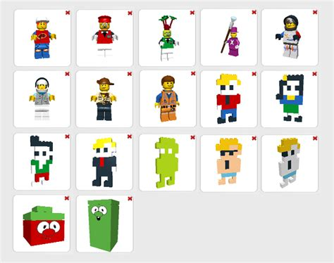 my lego digital designer char templates by tehlu9prod on