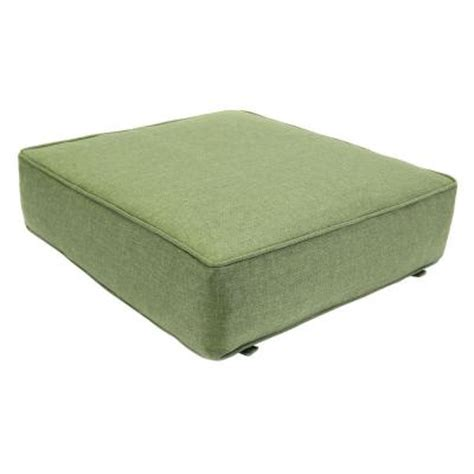 outdoor ottoman cushion hton bay clairborne solid green replacement outdoor