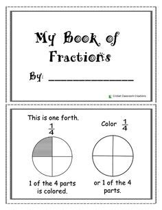 fraction booklet template 1000 images about fractions on fraction