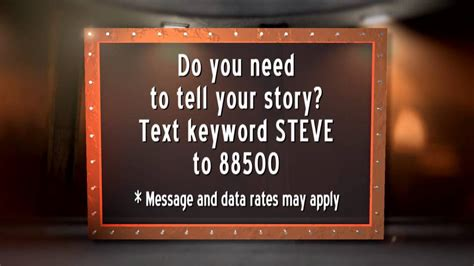 What Do You Need For String - do you need steve wilkos help to tell your story text