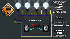 schaltplan wechselschalter mit 2 len zwei lichtschalter und vier len anschlie 223 en am