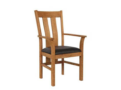 Oak Carver Dining Chairs Churchill Brown Leather Solid Oak Carver Dining Chair