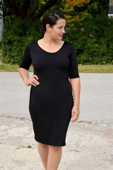 chic  black dress pattern allfreesewingcom