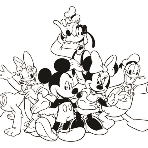 mickey mouse and friends coloring pages to print
