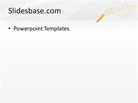 writing powerpoint template pencil letters powerpoint template slidesbase