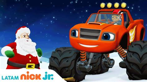 cancion navidena  blaze   monster machines nick jr america latina youtube