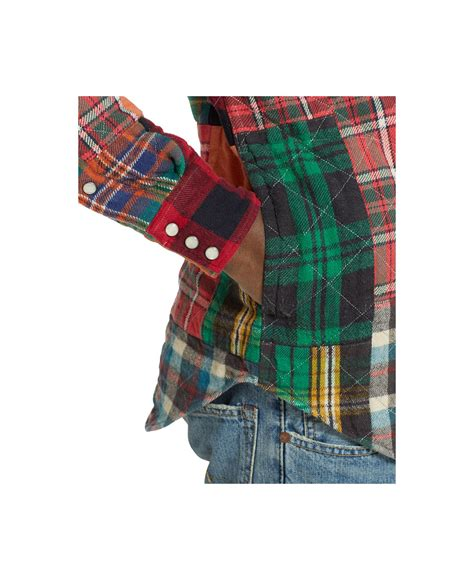 Patchwork Flannel - polo ralph patchwork flannel western shirt in