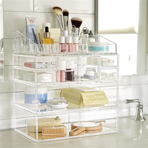 luxe acrylic large modular drawer the container store