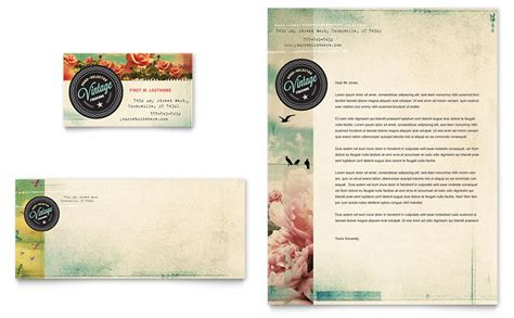 vintage clothing business card letterhead template word publisher