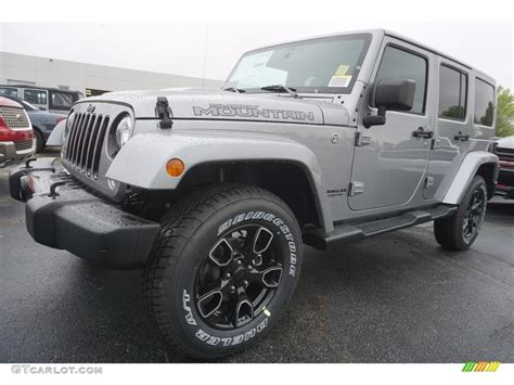 jeep smoky mountain rhino 2017 billet silver metallic jeep wrangler unlimited smoky