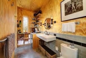 cabin design ideas rustic industrial bathroom decoist