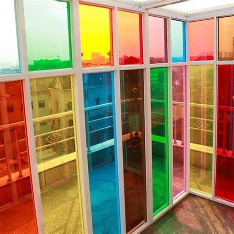 colored window fashionable colorful decorative window low reflective