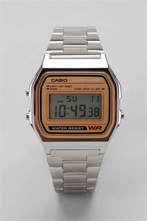casio chrome gold digital outfitters