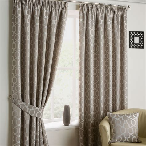 modern vintage curtains modern retro geometric jacquard pencil pleat lined