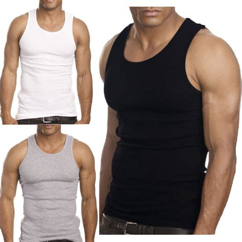 2015 top quality 100 premium cotton a shirt beater ribbed tank top in tank tops