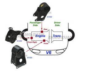 2004 Nissan Maxima Motor Mounts Engine Motor Mount Set 3pcs For 2002 2003 Nissan Maxima 3