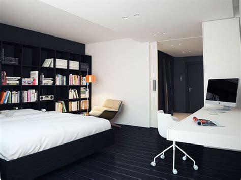 Minimalism Interior Design by Moderne Zwart Witte Slaapkamer Slaapkamer Idee 235 N