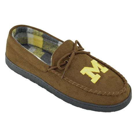 of michigan slippers ncaa s of michigan wolverines brown