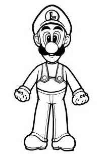 luigi coloring pages free printable luigi coloring pages for