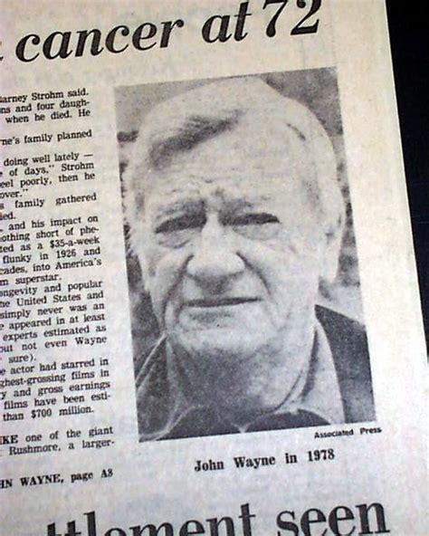 akron beacon journal obituary section death of actor john wayne rarenewspapers com
