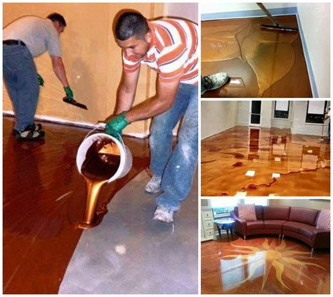 diy metallic epoxy floor the perfect diy