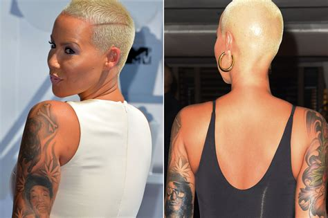 amber rose leg tattoo inks of ex wiz khalifa