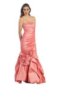 Cute long coral formal prom sweet 16 dresses for juniors teens party