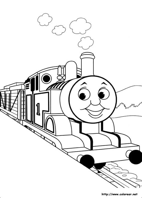 thomas coloring page pdf free coloring pages of simple thomas tank engine
