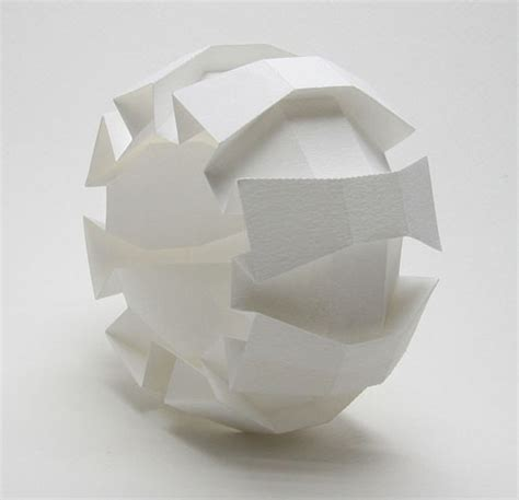 3d Origami Sculptures - 3d origami by jun mitani decoration design