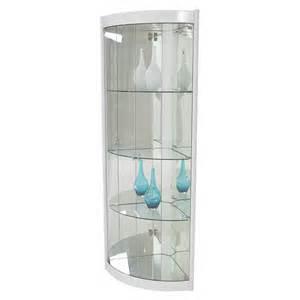 Corner Curio Cabinets In White Timney White Corner Curio El Dorado Furniture