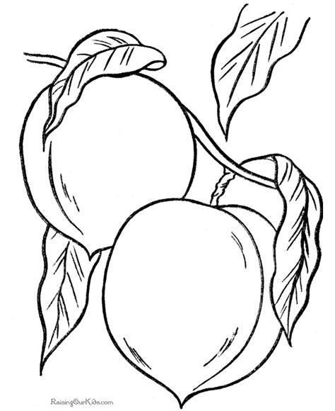 peaches coloring picture  print  color plodove