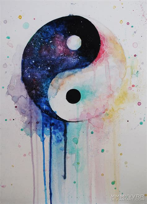 yin yang watercolor tattoo yin yang by mmmvvvrr on deviantart