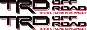 Toyota Decals Toyota Trd Road 4x4 Tundra Tacoma Sport Truck Decal