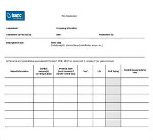 audit risk assessment questionnaire template sle risk assessment forms 10 free documents in pdf word