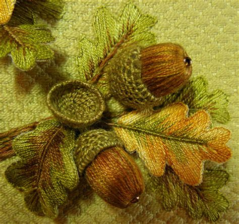 stump pattern new leaf windflower embroidery