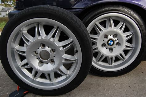 bmw silver alloy wheel paint