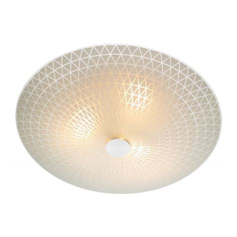 Ceiling Lighting Colby Circular Frosted Glass Flush Ceilling Light