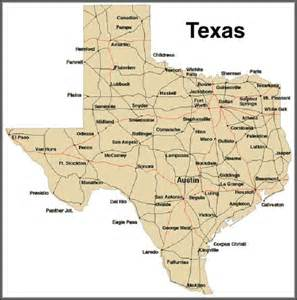 Texas State Map by Actors From Texas And More