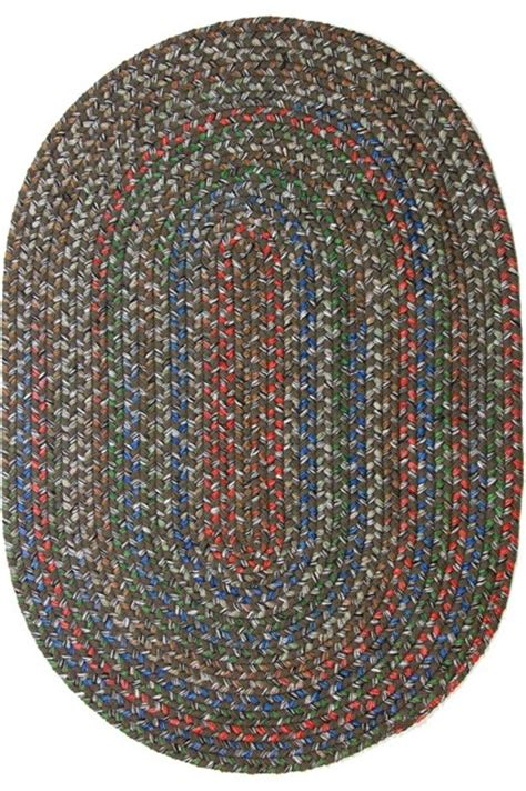Large Oval Area Rugs 10 X13 Oval Large 10x13 Rug Taupe Brown Textured Braided Farmhouse Area Rugs By