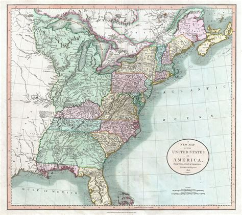map of state of usa file 1806 cary map of the united states east of the