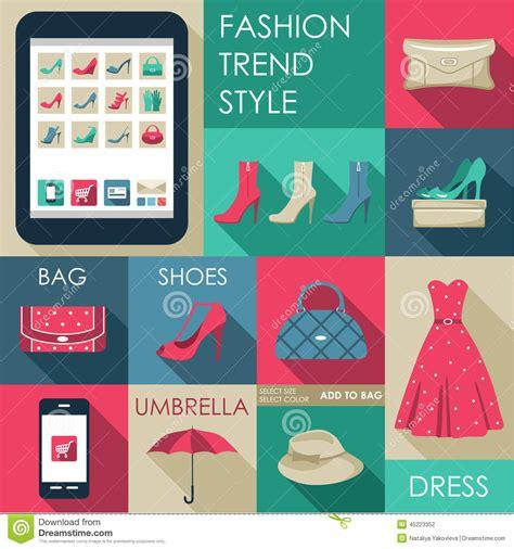 Promo Savara Fashion Shoe Real Stock 3 set of flat design fashion icon stock vector image 45223352