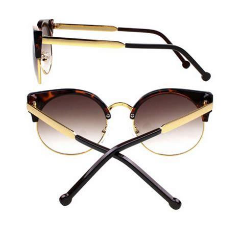 vintage tortoise cat eye wire frame sunglasses