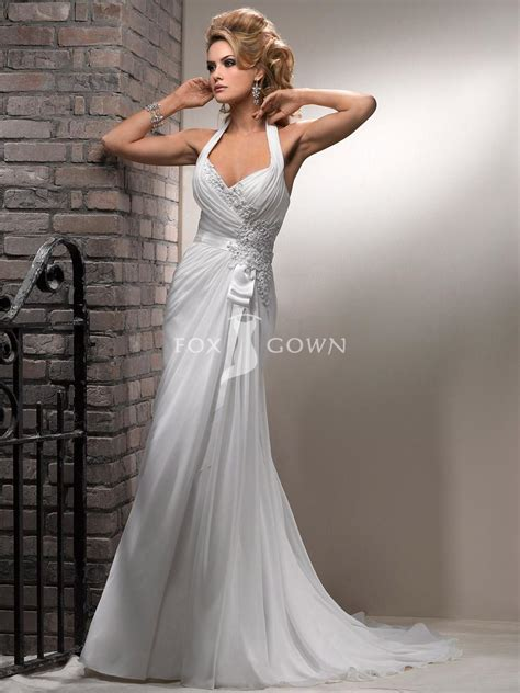 Halter Wedding Dress by The Halter Neck Wedding Dresses Reviews Wedding Celebration