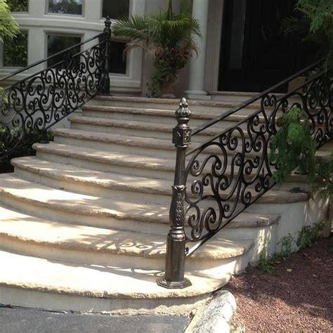 exterior wrought iron railings outdoor wrought iron