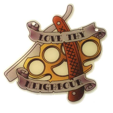 love thy neighbor tattoo items similar to b58 printed thy
