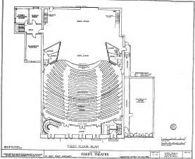 theatre floor plan ford s theater floor plan