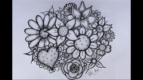 bloem tekenene diy bloemen tekenen door sofie rozendaal youtube