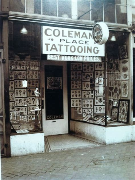 tattoo shops downtown 1937 photo of quot cap quot coleman s shop on